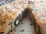 מאפה פילו במילוי גבינות ותרד