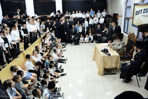 הרבי מויז'ניץ בביקור בחיפה