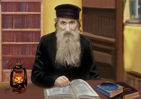 ציור רבי יעקב דוד מרדומסק