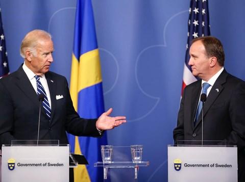 ראש הממשלה השוודי עם ביידן