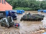 צבא גרמניה פועל בשיטפונות