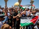 מניפים דגלי פלסטין בהר הבית, ארכיון