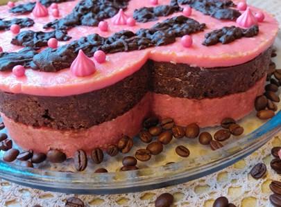 עוגת ביסקוויטים בגוונים