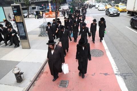 מחאה מול הקונסוליה הישראלית במנהטן