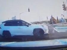 הרכב שכמעט התנגש ברכבו של אברי גלעד
