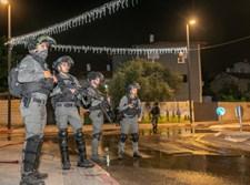 שוטרים במהלך הפרעות בלוד