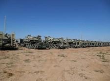 טנקים בגבול איראן אזרבייג'אן