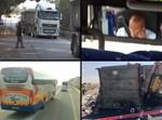 משאיות ואוטובוסים מעורבים בתאונות