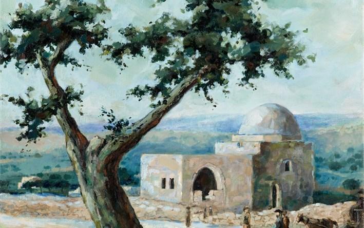 ציור אמנות של קבר רחל