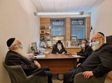 נציגי אגודת ישראל בפגישה
