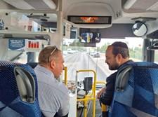 בקו האוטובוס החדש