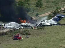 המטוס שעלה באש