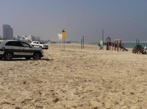 חוף הים במהלך התרגיל