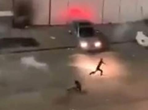 מפגין במ.פ. שועפט נורה ברגלו