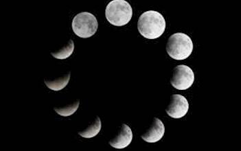 ליקוי הירח לאורך שעות הלילה