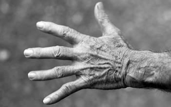 יד של אדם מבוגר