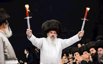 הרבי מלעלוב בשמחת בית השואבה