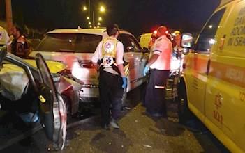 תאונה בכביש סמוך לנחשונים