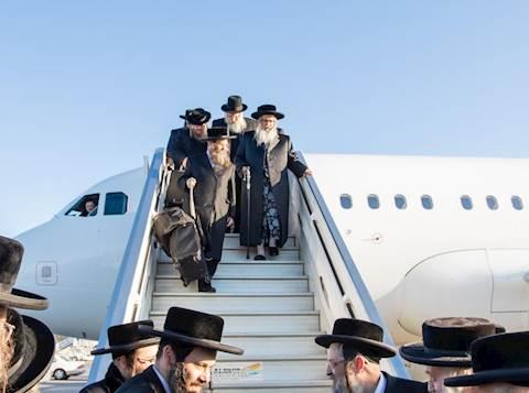 הרבי מסאטמר בהגיעו לישראל