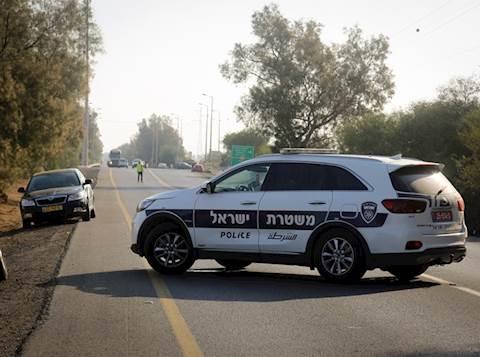 ניידת משטרה בזירת תאונה. אילוסטרציה