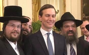 משה מורגרטן עם ג'ארד קושנר בבית הלבן