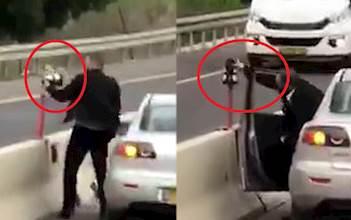משחית מצלמות תנועה של המשטרה