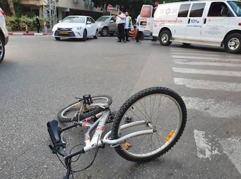 האופניים בזירת התאונה