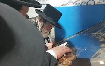 הרבי מויז'ניץ בתפילה במירון