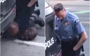 """שוטר בארה""""ב חונק שחור למוות"""