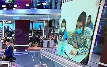 התמונה שהוצגה בשידור