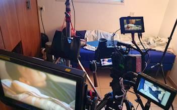 מצלמים סצנה לסרט