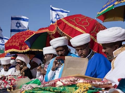 בני הקהילה האתיופית בחג הסיגד