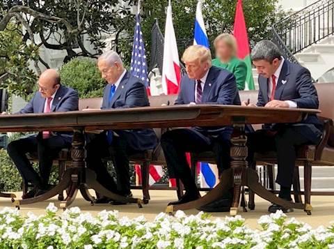 חתימת הסכם השלום בבית הלבן