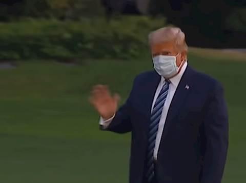 טראמפ במדשאות הבית להבן