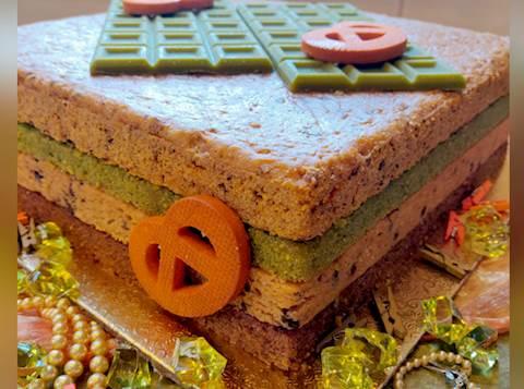 עוגת שכבות בחושה בארבע טעמים