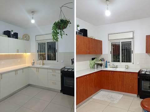 המטבח לפני ואחרי