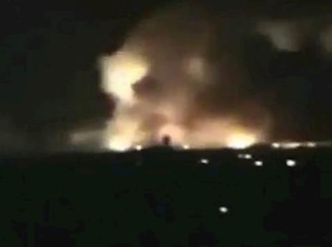 המורדים טוענים כי תיעדו התקיפה. צילום מסך: יוטיוב