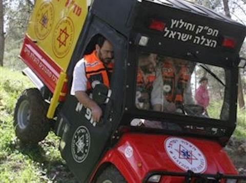 """טרקטורון החילוץ והחפ""""ק החדש של 'הצלה ישראל'  בפעולה"""