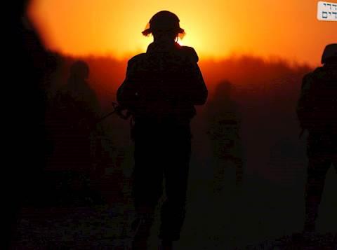 """החיילים נכנסים לשטח. צילום: דו""""צ"""