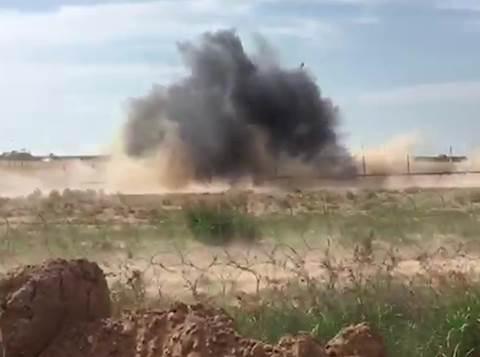 """צה""""ל פוצץ עמדת חמאס בגבול רצועת עזה"""