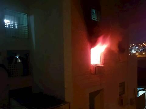 חילוץ לכודים בשריפה בביתר