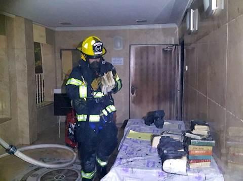 שריפה בבית כנסת בפתח תקווה (1)
