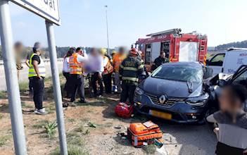 תאונה בסמוך למחלף קרית גת