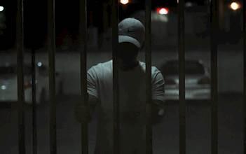 כלא, שער, מחסום, מאסר, גדר, מחבל, חשוד, צללית, צללים, אדם, גבר